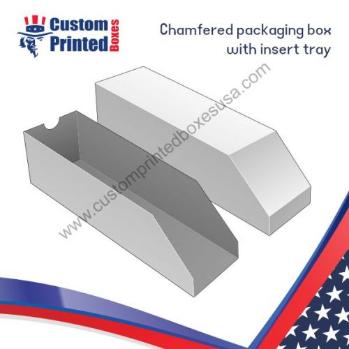 chamfered packaging boxes with inserts